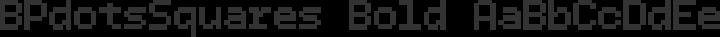 BPdotsSquares Bold free font