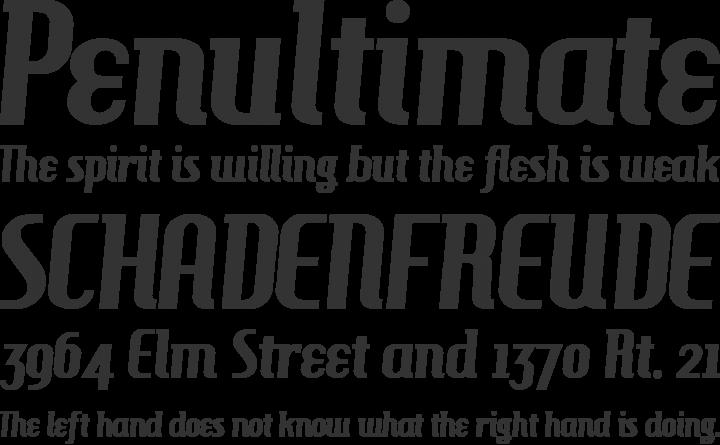 HamburgerHeaven Font Phrases