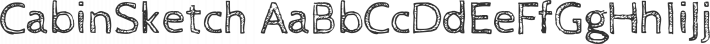 CabinSketch font family by Impallari Type