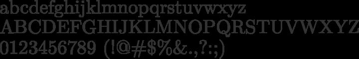 Latin Modern Roman Font Specimen