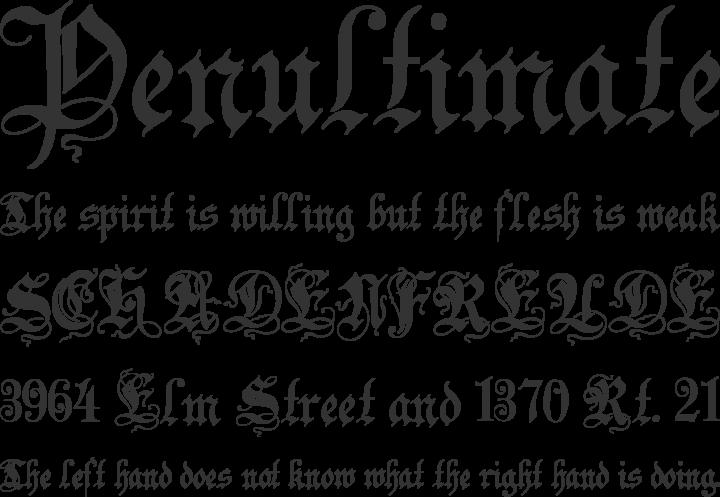 Zenda Font Phrases