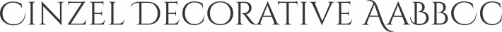 Cinzel font family by Natanael Gama