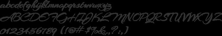 Arizonia Font Specimen