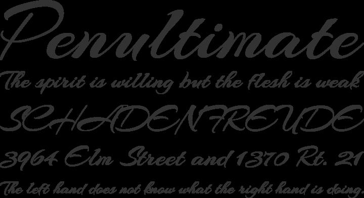 Arizonia Font Phrases