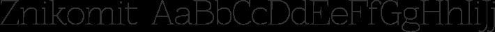 Znikomit font family by GLUK fonts