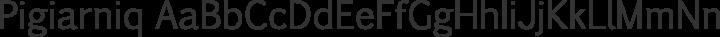 Pigiarniq Regular free font