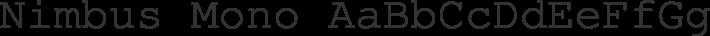 Nimbus Mono font family by URW++