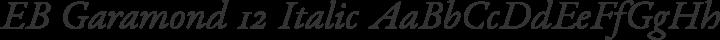 EB Garamond 12 Italic free font