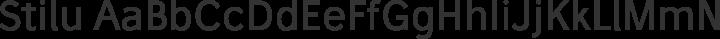 Stilu Regular free font