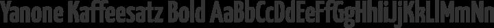 Yanone Kaffeesatz Bold free font