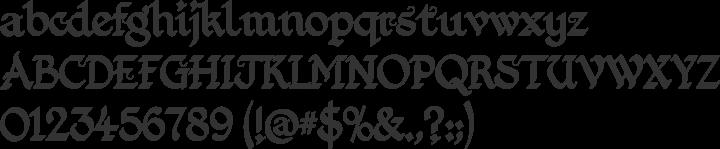 Kingthings Foundation  Font Specimen