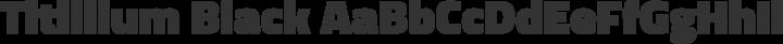 Titillium Black free font