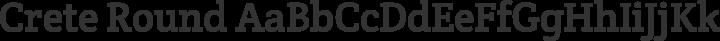 Crete Round Regular free font