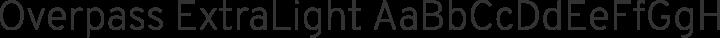 Overpass ExtraLight free font
