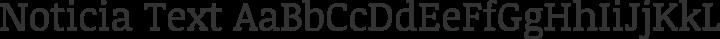 Noticia Text Regular free font