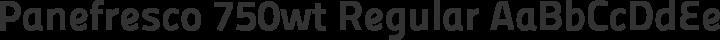 Panefresco 750wt Regular free font