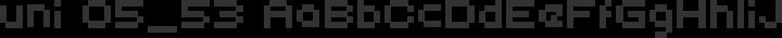 uni 05_53 Regular free font