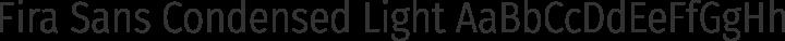 Fira Sans Condensed Light free font