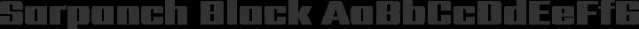 Sarpanch Black free font