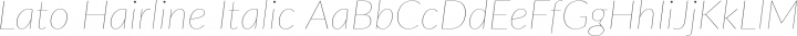 Lato Hairline Italic free font