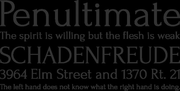 Forum Font Phrases