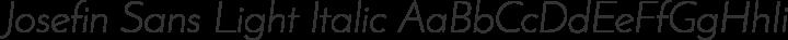 Josefin Sans Light Italic free font