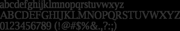 Luxi Serif Font Specimen