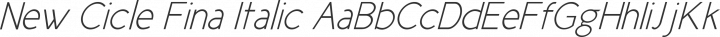 New Cicle Fina Italic free font