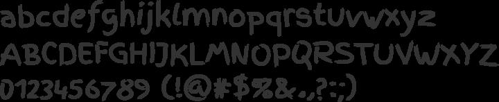 Finger Paint Font Specimen