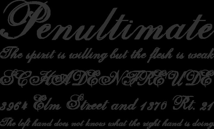 Selfish Font Phrases