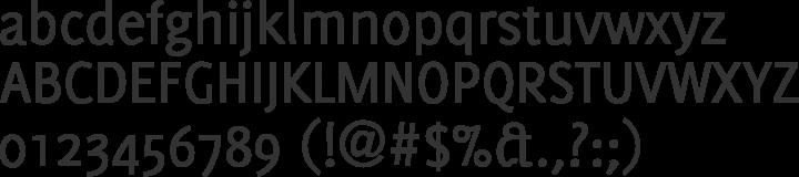 Delicious Font Specimen