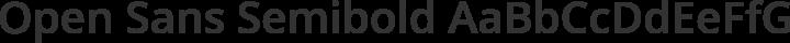 Open Sans Semibold free font