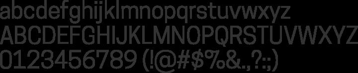 Cooper Hewitt Font Specimen