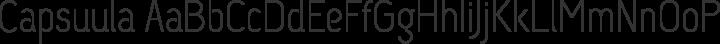 Capsuula Regular free font