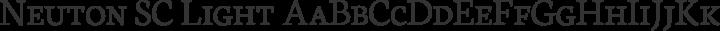 Neuton SC Light free font