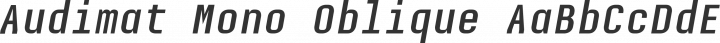 Audimat Mono Oblique free font