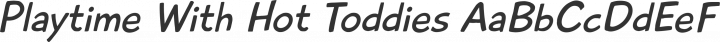 Playtime With Hot Toddies Regular free font