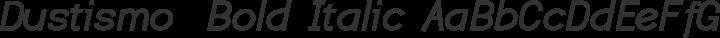 Dustismo  Bold Italic free font