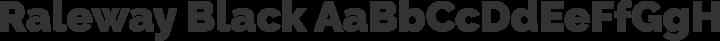 Raleway Black free font