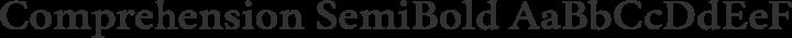 Comprehension SemiBold free font