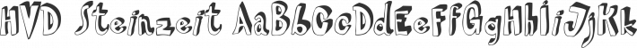 HVD Steinzeit font family by HVD Fonts