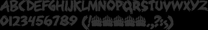 Bearpaw Font Specimen