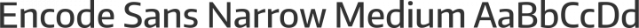 Encode Sans Narrow Medium free font