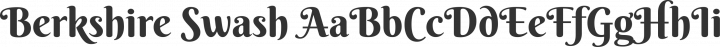 Berkshire Swash Regular free font