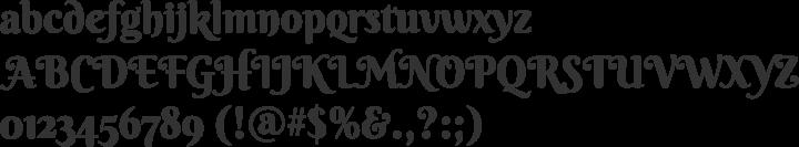 Berkshire Swash Font Specimen