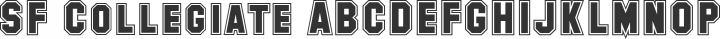 SF Collegiate Regular free font