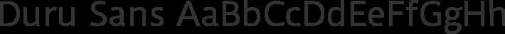 Duru Sans font family by Sorkin Type Co
