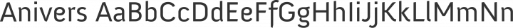 Anivers Regular free font