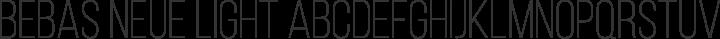 Bebas Neue Light free font