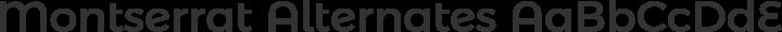 Montserrat Alternates Regular free font